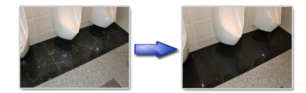 トイレに付着した汚い汚れ